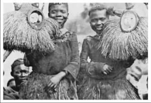 Yaka With Masks.  This picture from «White Fathers»
